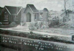 Church and rectory after 1936 tornado