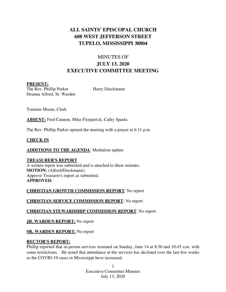 thumbnail of Executive-Committee-Minutes-July-13-2020