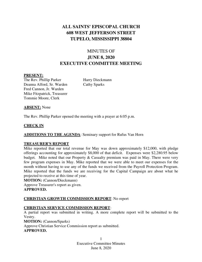 thumbnail of Executive-Committee-Minutes-June-8-2020