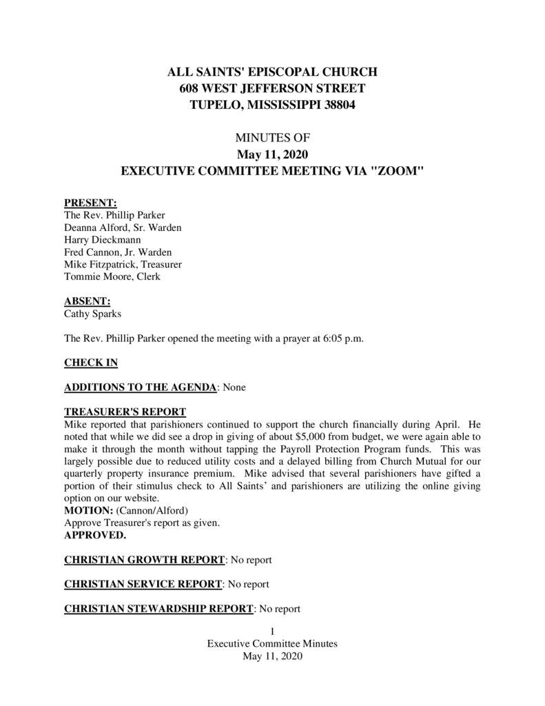 thumbnail of Executive-Committee-Minutes-May-11-2020