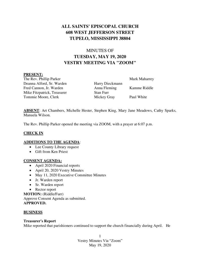 thumbnail of Vestry-Minutes-May-19-2020